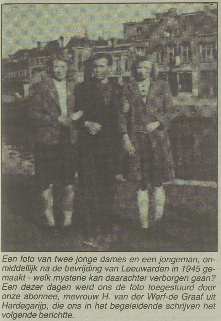 Iwan Pasjutin, met 2 dames zie bijschrift. bron kleine krantsje dec 86