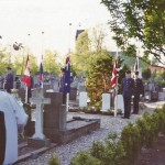 1990 4.5 Herdenking met RAF guard of Honour, Deryk Wills foto's (2)