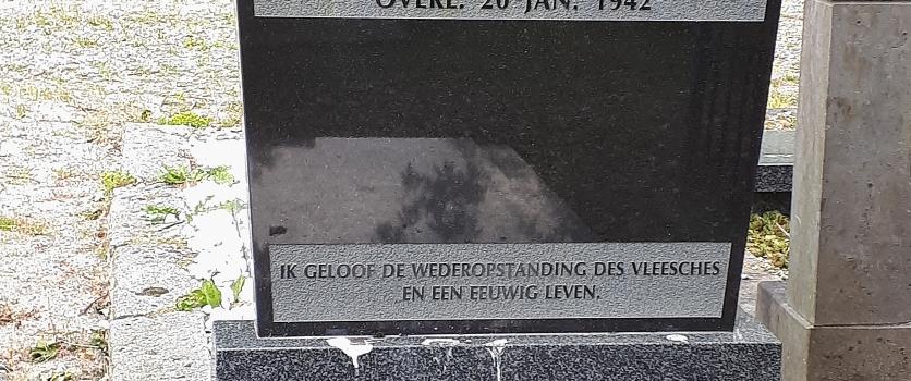 Graf van oorlogsslachtoffer Dirk Veltman 12 jaar
