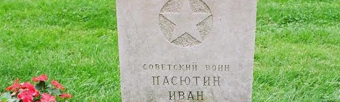 Iwan Pasjutin in 1948 herbegraven