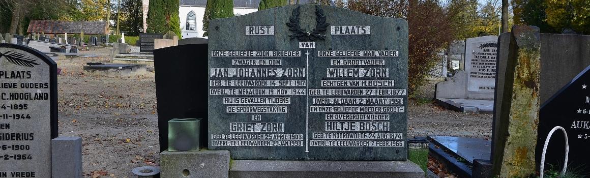 Jan Johannes Zorn gefusilleerd 1944